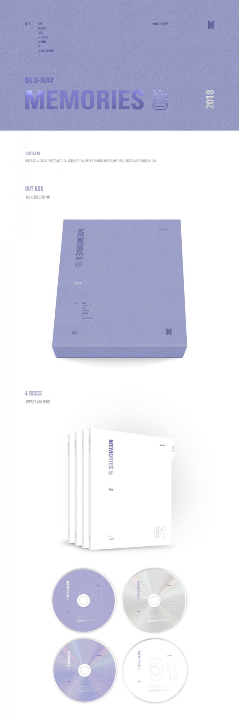 BTS memories 2018 blu-ray