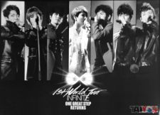 Poster officiel - INFINITE - 1st Wold Tour One Great Step Returns Live [Vers.Noir]