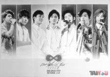 Poster - INFINITE - 1st World Tour One Great Step Returns Live [Vers.Blanc]