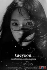 Poster officiel - TAEYEON (GIRLS' GENERATION) - This Christmas - Winter is Coming
